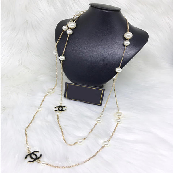 New Chain with Pearls Necklace | 24HOURS.PK