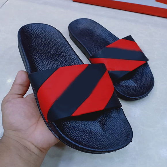 New Simple Flip Flops For Mens Black and Red | 24HOURS.PK
