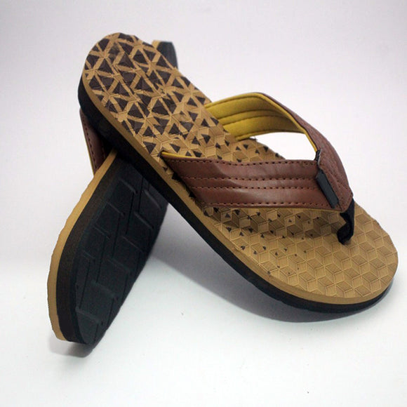 Polygon Design Slipper Brown and Dark Brown | 24HOURS.PK