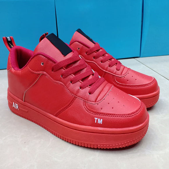 Nike Air Force 1 Original Leather Skateboard Shoes for Men Comfortable Outdoor Sports Shoes Red | 24HOURS.PK