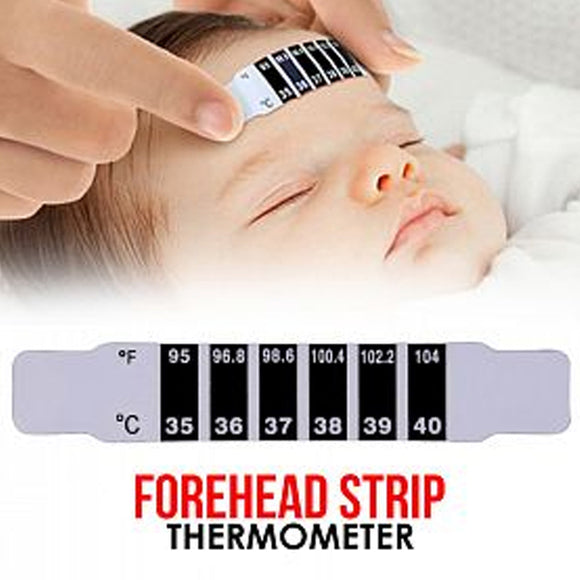 Pack of 2 Baby Kids Fever Body Temperature Test Forehead Strip Thermometer | 24hours.pk