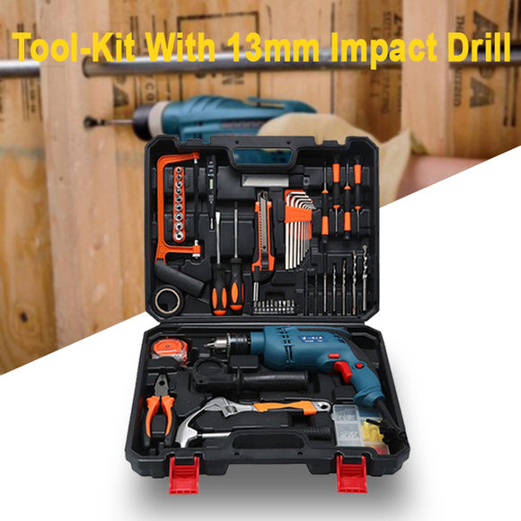 Semprox Tool-Kit With 13mm Impact Drill (SID-1301-2) | 24HOURS.PK