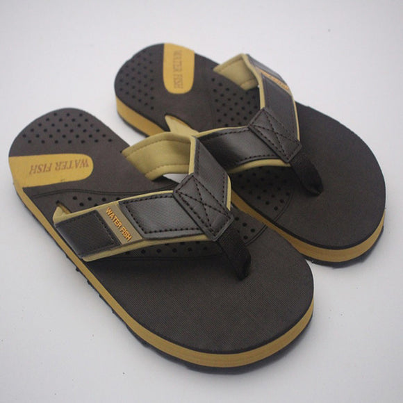 Men's Flip-Flops and House Slippers Yellow and Black | 24HOURS.PK