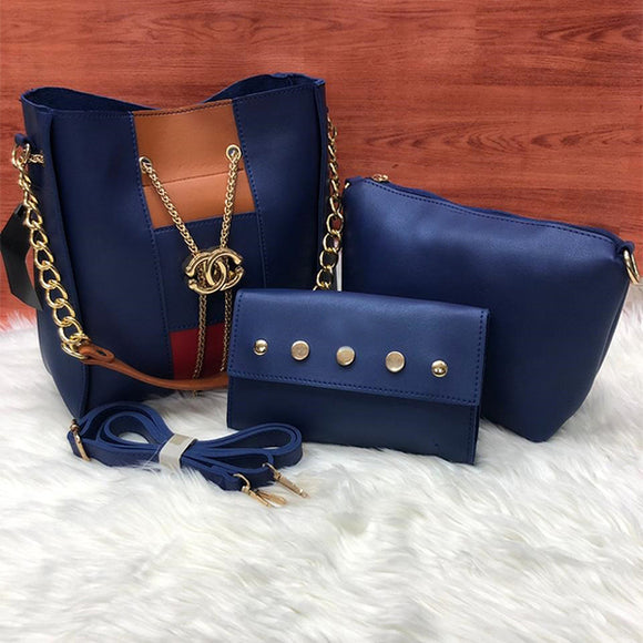 Cross Body Women Bag High Quality Casual Female Bag Navy Blue | 24HOURS.PK