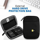 Hard Sailcloth 2.5 Inch Portable External Hard Drive Protection Bag. | 24hours.pk