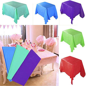 Pack of 2, Large Plastic Rectangle Table Cover Tablecloth Covers PVC Table Cloth Oil Proof Waterproof Stain-Resistant | 24HOURS.PK