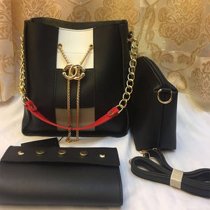 Cross Body Women Bag High Quality Casual Female Bag Black | 24HOURS.PK