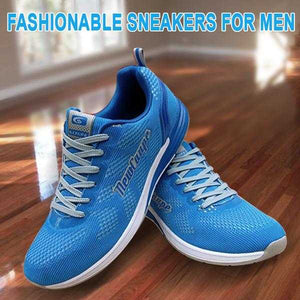 New Coupe Shoes Fashionable Sneakers for Men Sky Blue and White | 24HOURS.PK