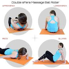 Peanut Massage Ball - Double Lacrosse Balls For Myofascial Release, Trigger Point & Deep Tissue Roller | 24hours.pk