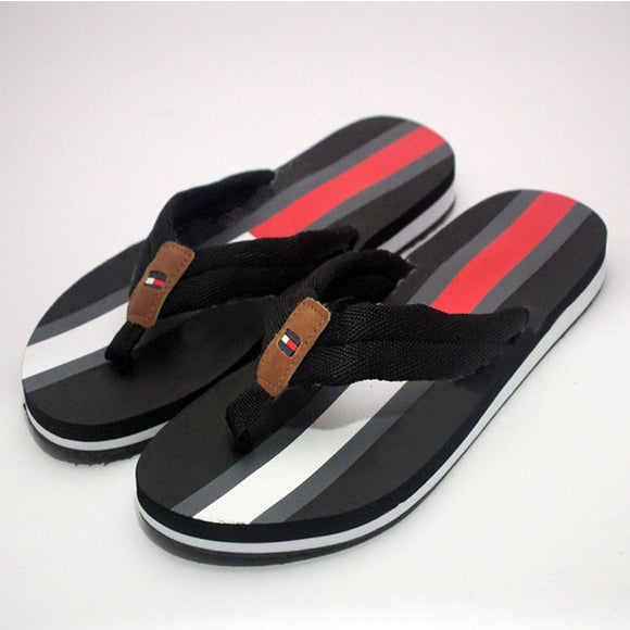 Grey Red and Black White 4 Colors Design Slippers For Mens | 24HOURS.PK