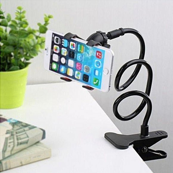 Flexible Goose Double Clip Selfie Cell Phone Bed Desktop Holder | 24HOURS.PK