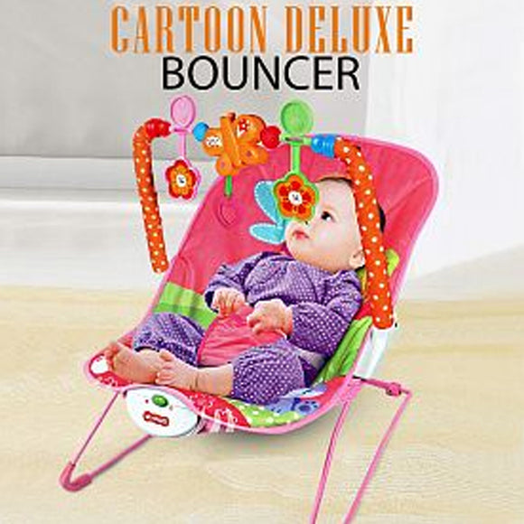 Ibaby Comfortable & Fun Cartoon Deluxe Bouncer For Kids 5+Months, Pink | 24hours.pk