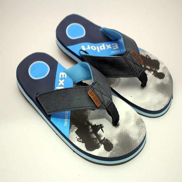 Creative Flip Flops Sliper Dark and Sky Blue | 24HOURS.PK