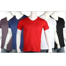 Pack of 5 V Neck T-Shirt | 24hours.pk