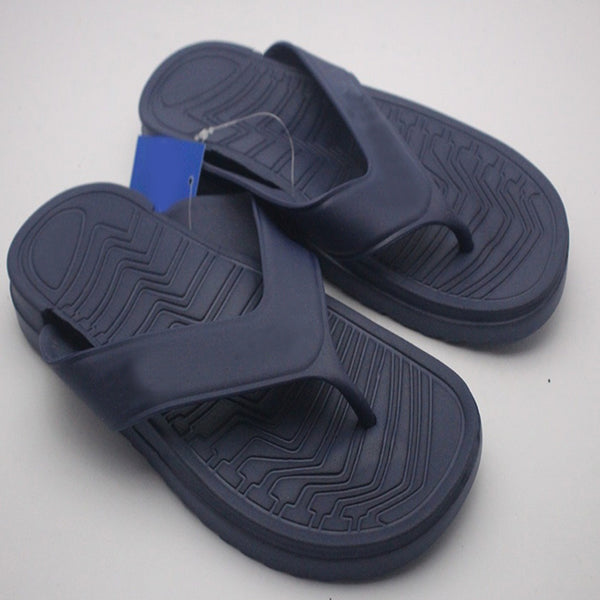 New Simple 2 Strap Slipper For Mens Black | 24HOURS.PK