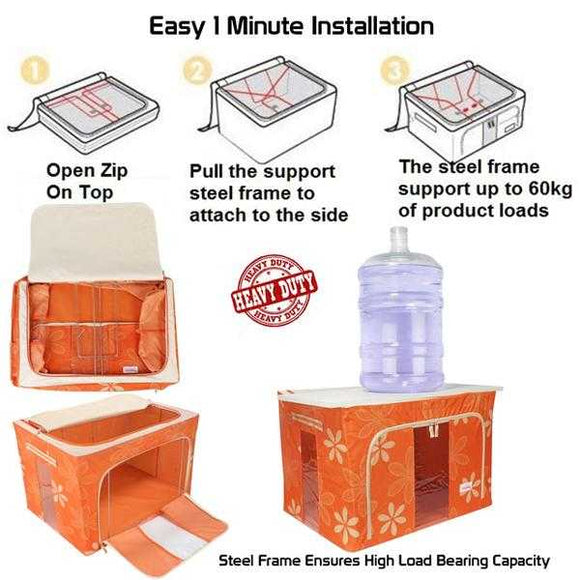 Living Box - Storage Boxes for Clothes, Blanket Cover Bag (0030) | 24hours.pk