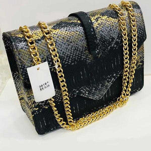 Women's Shoulder Chain Bag, Mini Square Bag, Black | 24HOURS.PK