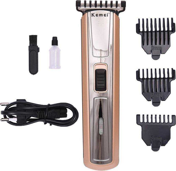 Kemei KM 719 Professional High Quality Advanced Shaving System Cordless Grooming Kit for Men  (Gold) | 24hours.pk