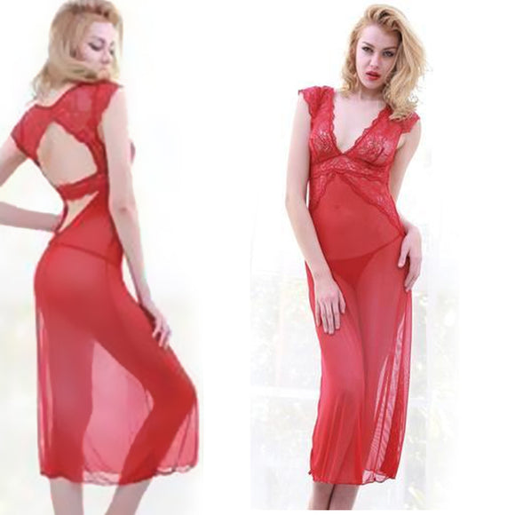 Long Red Night Dress For Her | 24HOURS.PK