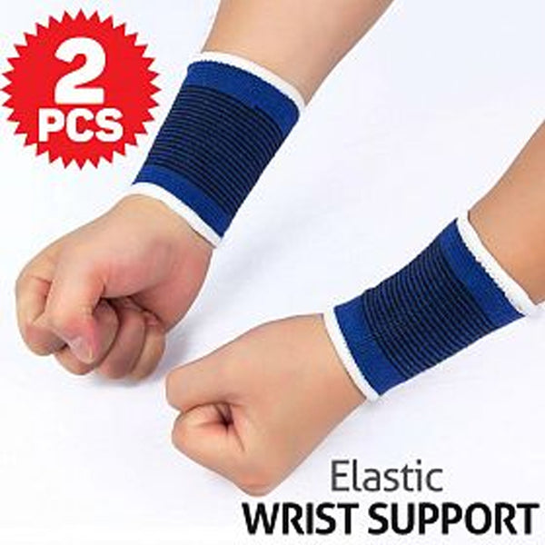 Meitisi Wrist Support Elastic Knitted Sweatbands Sports Protection, 2 Pcs | 24hours.pk