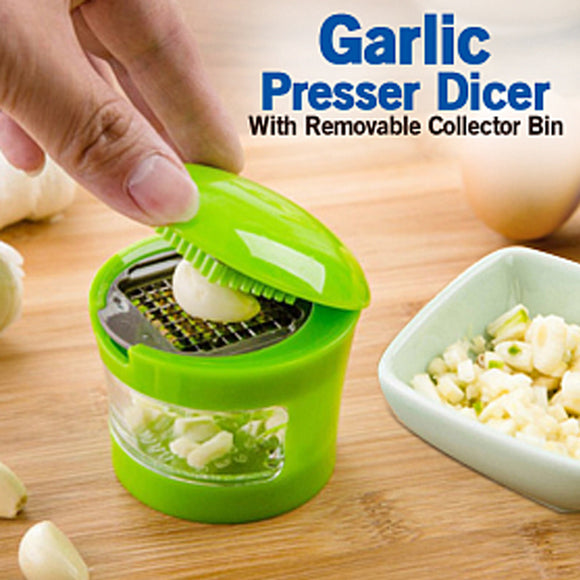 Cindrella Multifunction Plastic Garlic Presser Dicer Slicer Kitchen tool With Removable Collector Bin | 24HOURS.PK