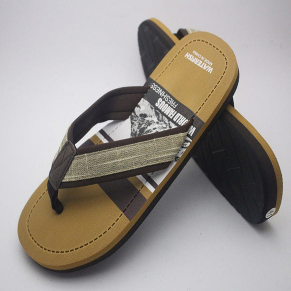 Creative Slipper For Mens Yellow and Dark Brown | 24HOURS.PK