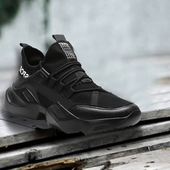 High Quality Men Sneakers Comfortable Outdoor Shoes Black | 24HOURS.PK
