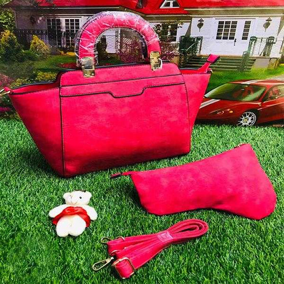 2 Piece Handbag Set For Ladies Women Pink | 24HOURS.PK