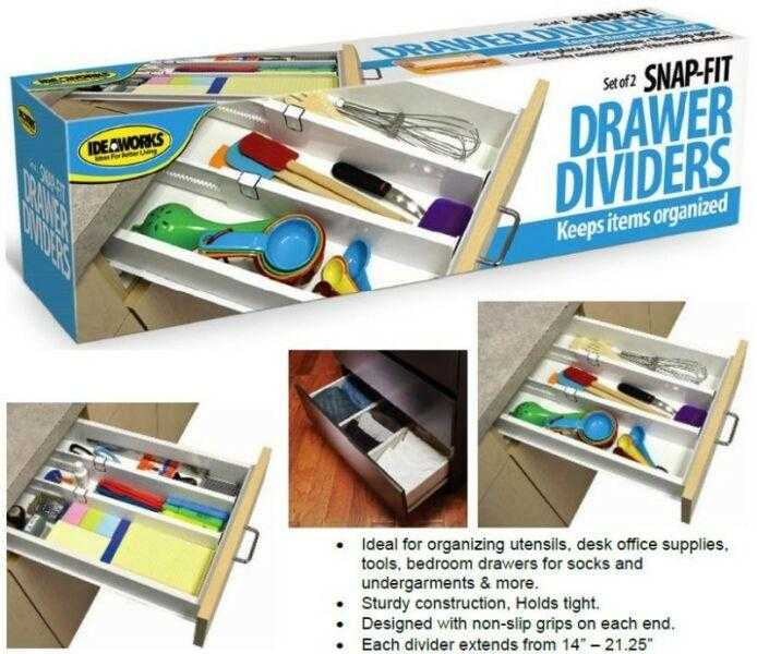 Snap Fit Drawers Dividers Keeps Items Organized | 24hours.pk