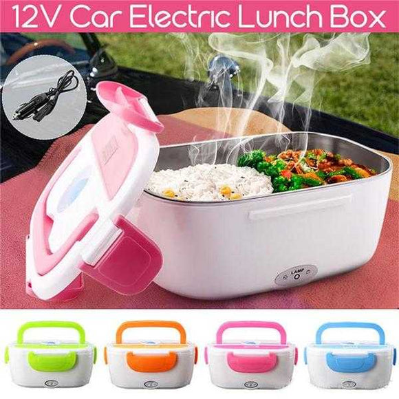 Portable Electric Lunch Box Heated Food Containers Meal Prep Rice Food Warmer Dinnerware Sets For Kid Bento Box Travel/Office (001) | 24HOURS.PK