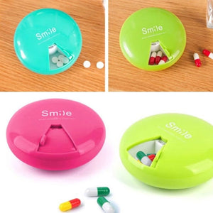 Pack of 2 Portable Smile Pill Box (2003) | 24hours.pk
