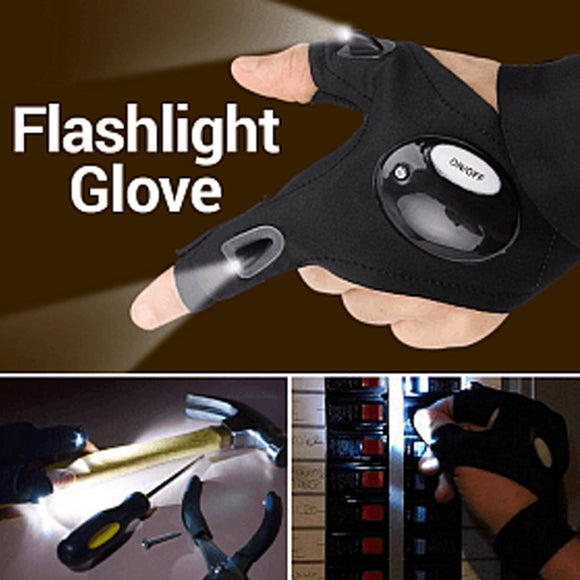 Hands-Free Atomic Beam Ultra-Light LED Light Glove Flashlight, Free Size (1025) | 24HOURS.PK