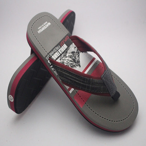 Simple Slipper For Mens Grey & Hot Pink | 24HOURS.PK