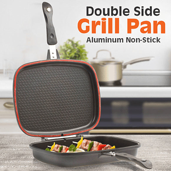Non-Stick Double Sided Grill Pan | 24HOURS.PK