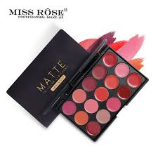 Miss Rose 15 Colors Red Sexy Pigments Matte Lipstick Palette | 24hours.pk
