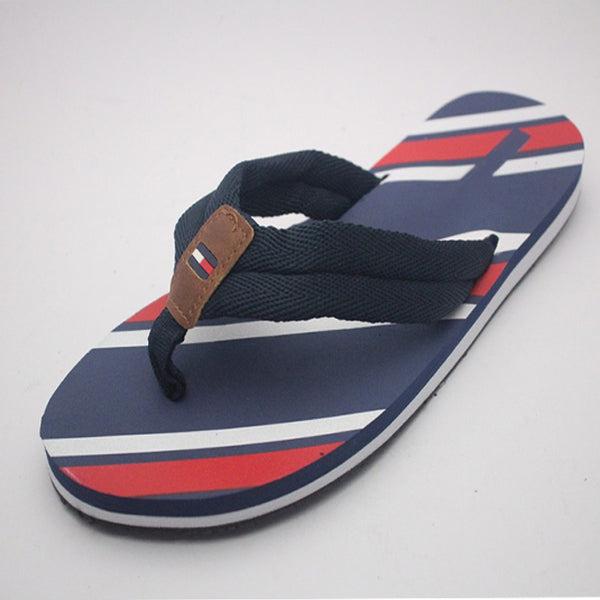 2 Strap Slipper For Mens Blue and Red | 24HOURS.PK
