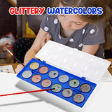 Pack Of 2, Glittery Watercolors With Brush For Kids 3+Ages, MP-301 | 24HOURS.PK
