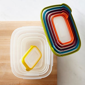7 Pcs Rainbow Bowl Set Nesting Storage Containers | 24hours.pk