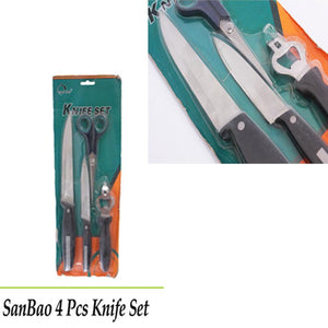 SanBao 4 Pieces Stainless Steel Knife Set | 24HOURS.PK