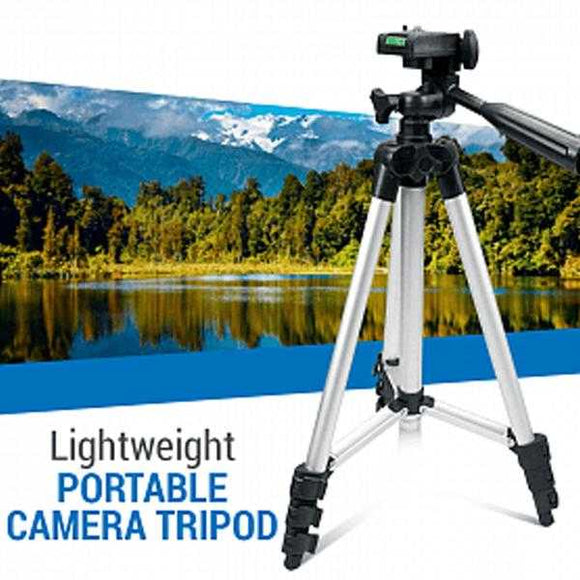 Portable Camera Tripod with Three-dimensional Head & Quick Release Plate | 24HOURS.PK