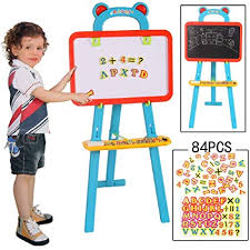 3 In 1 Educational Magnetic Learning Easel Board | 24hours.pk