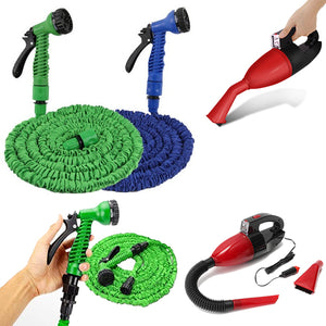 Pack of 2 Handy LED Car Vacuum with MagicHose Pipe 100FT (0061) | 24HOURS.PK