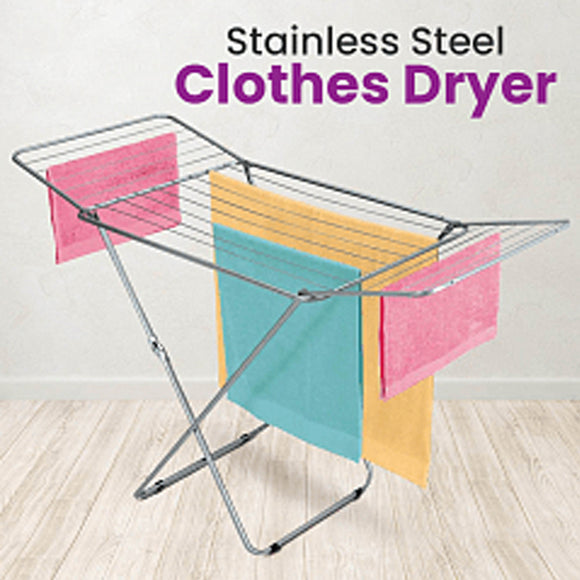 Stainless Steel Multipurpose Clothes Dryer Laundry Rack | 24HOURS.PK