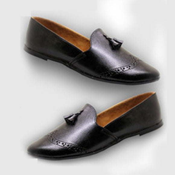 Men Loafers Luxury Simple Slip Footwear Shoes - black (0014) | 24hours.pk