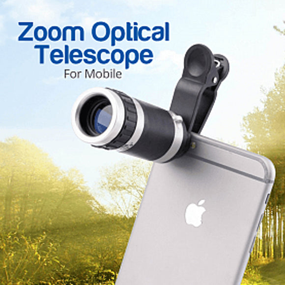 Universal 8-18x Zoom Optical Mobile Phone Telescope Lens - Assorted Design | 24HOURS.PK