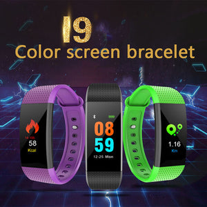 Smart Bracelet I9 - Monitors Heart Rate, Sleep, Calories Etc For Android And IOS | 24HOURS.PK