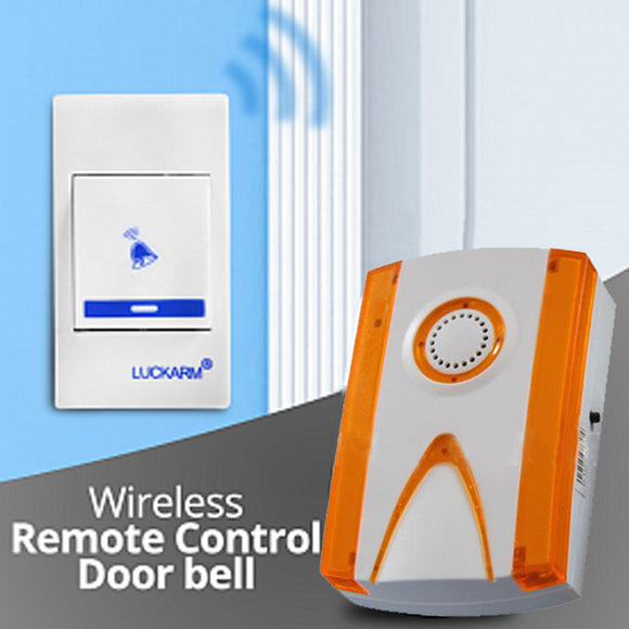 Pack of 2 Luckaram Intelligent Wireless Remote Control Door bell | 24HOURS.PK