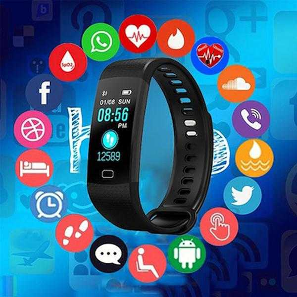 Y-4 Fitness Activity 0.66 Inch Sports Smart Bracelet | 24HOURS.PK