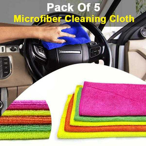 Pack Of 5  Micro Fiber Cleaning Cloth Multi Color | 24HOURS.PK