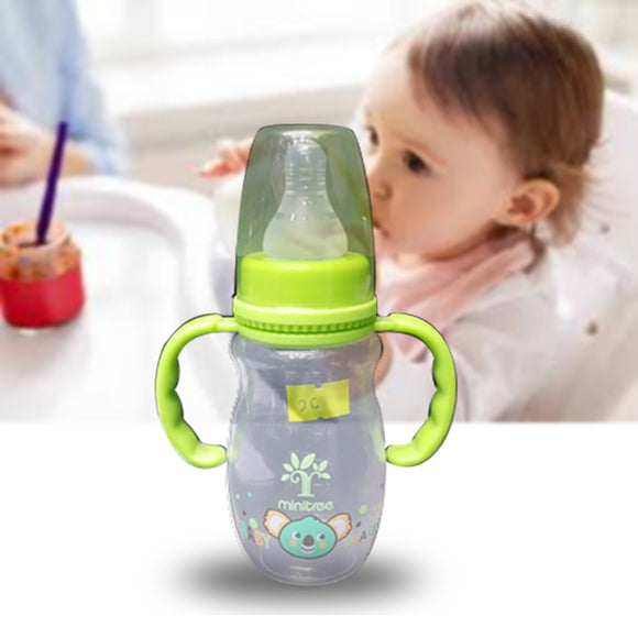 Pack of 2 Baby Feeding Bottle Transparent Milk Bottle Green | 24HOURS.PK